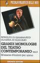 GRANDI MONOLOGHI TEATRO CONTEMPORANEO V 02 UOMINI